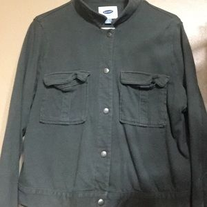 Old Navy Green Jacket- snap like buttons-soft